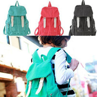 Fashion Cute Girl Casual Punk Canvas Shoulder Bag Backpack Satchel School Book