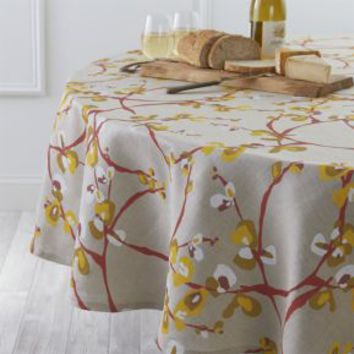 "Camilla Linen 90"" Round Tablecloth"
