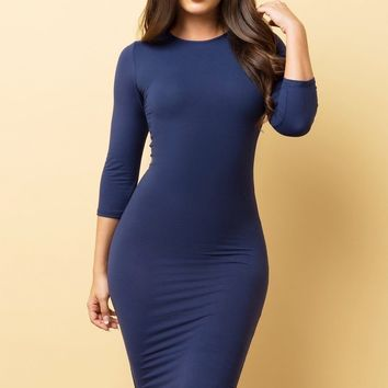 Carol Dress - Navy Blue