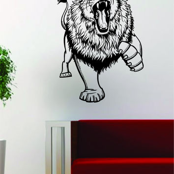 Lion Version 14 Design Animal Decal Sticker Wall Vinyl Decor Art