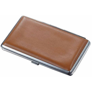 Visol Lawrence Brown Leatherette 100's Size Cigarette Case