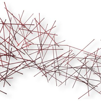 Pick Up Sticks Contemporary Wall Sculpture by Metal Perspectives