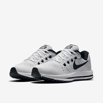 The Nike Air Zoom Vomero 12 Women's Running Shoe.