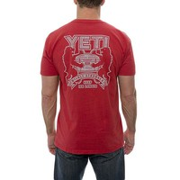 Coat of Arms Pocket Tee in Red by YETI