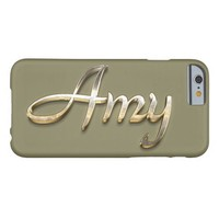 """Amy"" Custom Monogram iPhone 6/6s Case Barely There iPhone 6 Case"