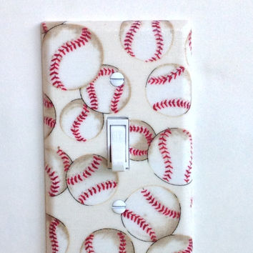 Baseball Single Toggle Switchplate, switch plate