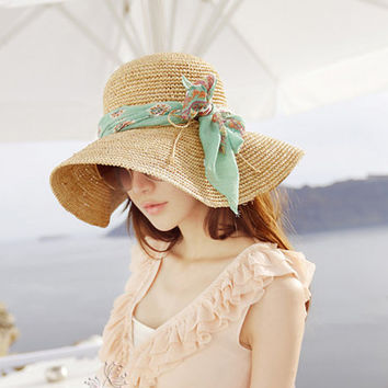 Crochet Women Sun Hat With Wide Bri.. on Luulla