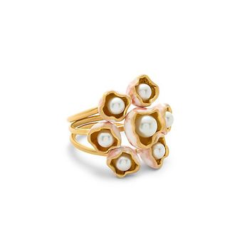 Tory Burch Pearl Bud Stacking Ring