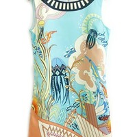 Dreamy Cartoon Chiffon Dress - OASAP.com
