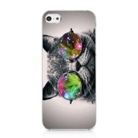 Galaxy Hipster Cat Case Hard Cover for Iphone 5c 2013 New