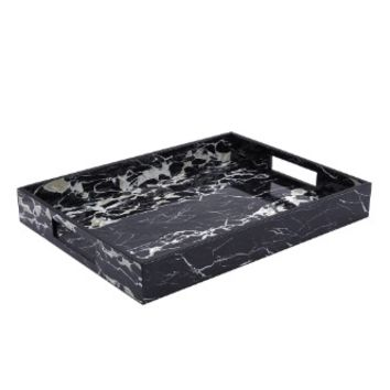 Marble Small Tray with Cutout Handles