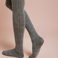 Tweed Ribbed Tights