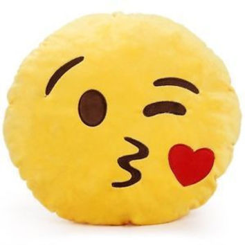 EMOJI PILLOW WINK KISS