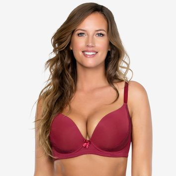 Parfait Casey Plunge Molded Bra in Ruby Wine