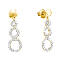 Diamond Fashion Earrings in 14k Gold 0.42 ctw