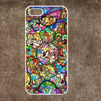 IPhone 5c case IPhone 5s case IPhone 5 case IPhone 4 case character disney Rubber case Hard case disney all character stained glass