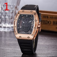 Richard miller RM052 Fashionable and trendy watch F-PS-XSDZBSH Black wristband + gold case + black dial
