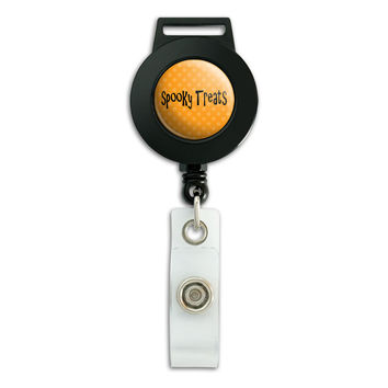 Spooky Treats Halloween Retractable Badge Card ID Holder