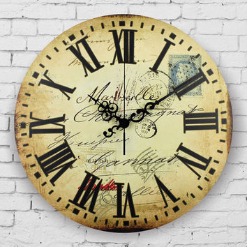 Vintage France large decorative wall Clock absolutely silent quartz clock unique wall clocks bedroom decor wall watches gift