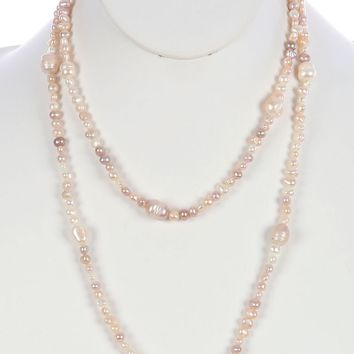 Fresh Water Pearl Extra Long Wraparound Necklace