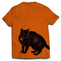 Black Cat T-Shirt Halloween Tee