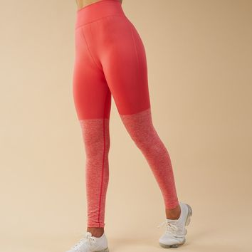 Gymshark TwoTone Seamless Leggings - Peach Coral