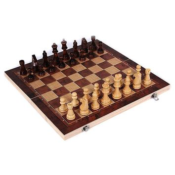 New Design 3 in 1 Wooden International Chess Set