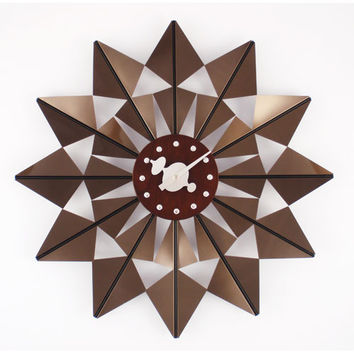 Control Brand G111120BROWN Brown George Nelson Butterfly Clock