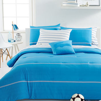 CLOSEOUT! Lacoste Home Thames Malibu Blue Comforter Sets