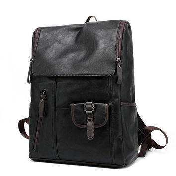 Vintage Men's Leather Backpack Shoulder Bag Briefcase Rucksack Laptop Bag