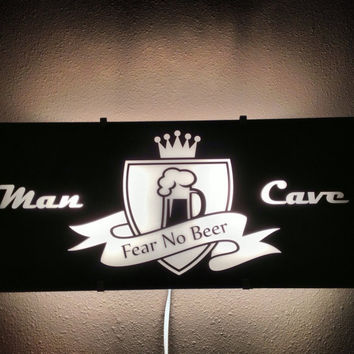 Man Cave, Guy gift, Bar light, Neon light, room decor, Beer, wall art, Lighted sign, fathers day, by Otrengraving on Etsy