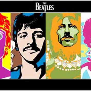 The Beatles Psychedelic Pop Art Poster 11x17