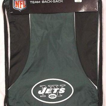 NFL Football New York Jets Draw-String Sling Bag Gym Bag Backpack Back Pack NEW