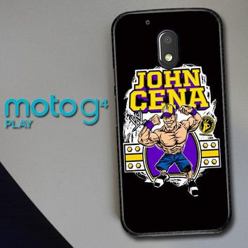 John Cena Cenation Cartoon V0479 Motorola Moto G4 Play Case