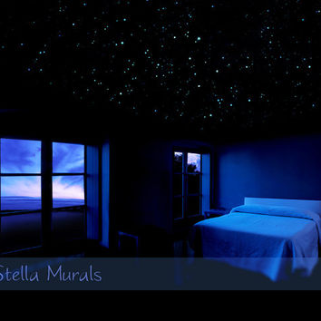 Realistic Star Decals | Removable | 3D Night Sky Star Ceiling | 400 - 1000 Glow in the Dark Star Stickers | Starry Night Bedroom Decor