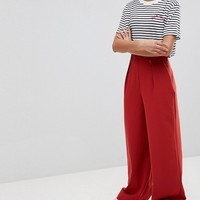 ASOS The Wide Leg Trousers with Pleat Detail at asos.com