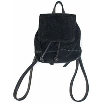 90's Vintage Mini Backpack Leather & Suede