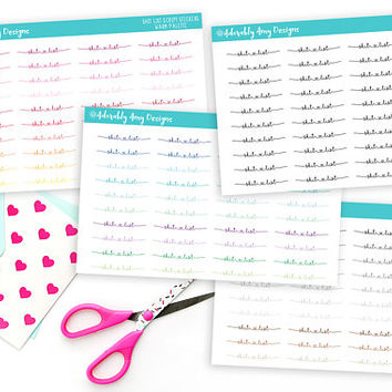 Shit List Script Reminder Planner Stickers for Erin Condren, Plum Planner, Inkwell Press, Kikki K or Any Size Planners