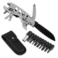 OUTU® Silver Multitool-Multipurpose Survival Knife & Pliers Tool, Screwdriver, Wrench, Knife Multifunction Outdoor Camping Survival Knifte Tools Set with Nylon Sheath