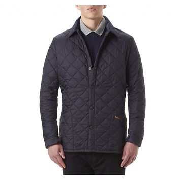 Heritage Liddesdale Quilted Jacket in Navy by Barbour