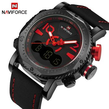 NAVIFORCE NF9094BY Quartz Digital Sports Army Military Waterproof Watch