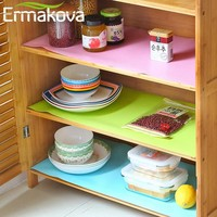 ERMAKOVA Kitchen Drawer Mat Shelf Cabinet Storage Pad Wardrobe Anti-slip Anti-Bacteria Cushion Moisture Proof Table Cupboard Mat