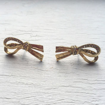 Vintage Givenchy Bow Earrings