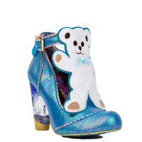 Irregular Choice Teddy Bear Pumps - Beige/Blue