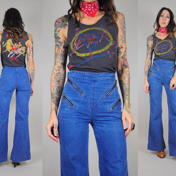 Rare 70's Zipper Front Bell Bottom Jeans
