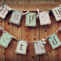 Adorable Homemade Shabby Chic Happy Birthday Banner for your little girl