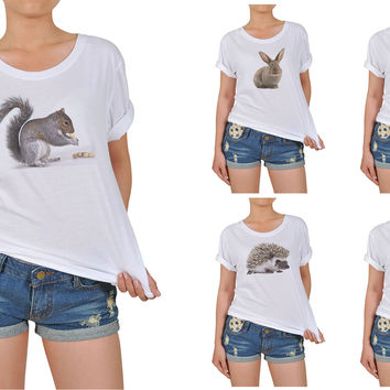Women's Animal-5 Printed Cotton T-shirt WTS_12