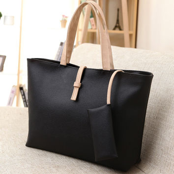 Large Leather Handbag Shoulder Bag