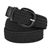 Black Braided Elastic Stretch Belt