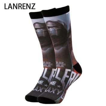 Star Wars Force Episode 1 2 3 4 5 2018  rule galaxy prints Men and women fashion Funny socks 3d printed socks 200 knitting oil painting compression socks AT_72_6